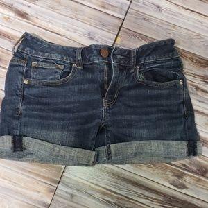 American Eagle Distressed Stretch Denim Shorts